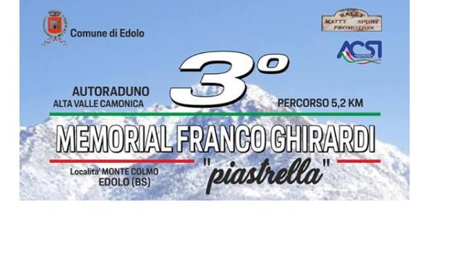 """3° MEMORIAL FRANCO GHIRARDI """"PIASTRELLA"""" – EDOLO, 29/30 SETTEMBRE 2018"""