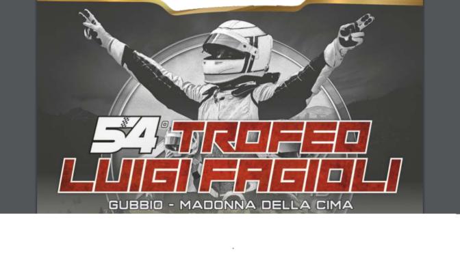 """54° Trofeo """"Luigi Fagioli"""", Gubbio 23/24/25 agosto 2019"""